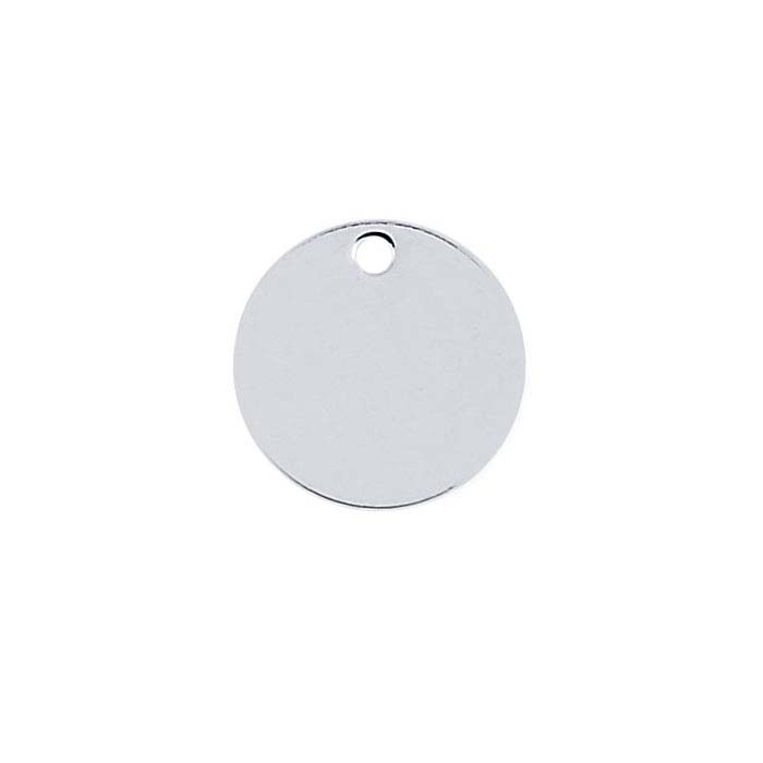 Argentium® Silver 8.9mm Round Tag, 20-Ga., Soft