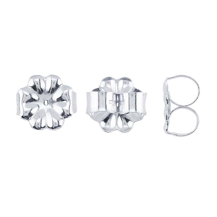 Argentium® Silver 9mm Heavyweight Ear Nuts