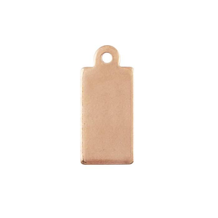 Copper 13.9 x 6.2mm Rectangle Tag, 18-Ga., 1/2-Hard
