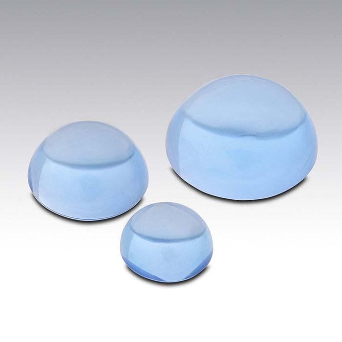 Swiss-Blue Topaz 4mm Round Cabochon