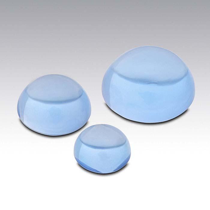 Swiss-Blue Topaz 6mm Round Cabochon