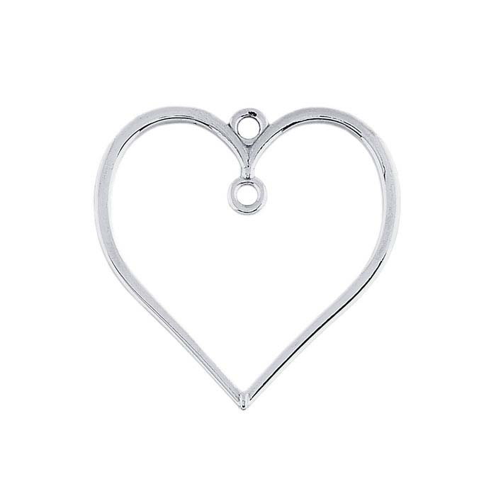 Sterling Silver Heart Pendant with Ring