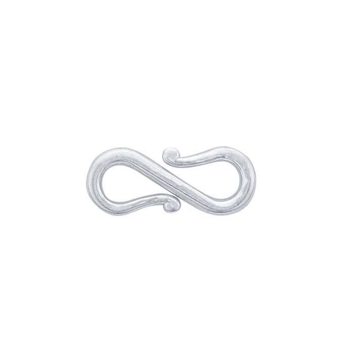 Silver S-hook Clasp