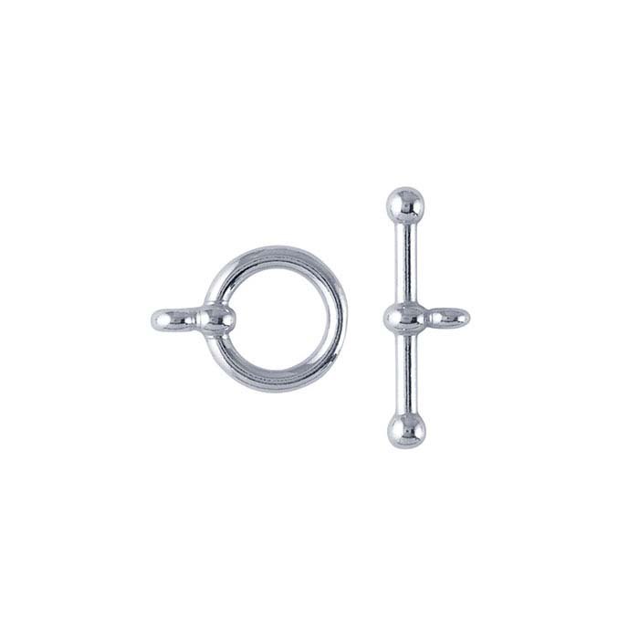 Argentium® Silver Ball-End Toggle Clasps