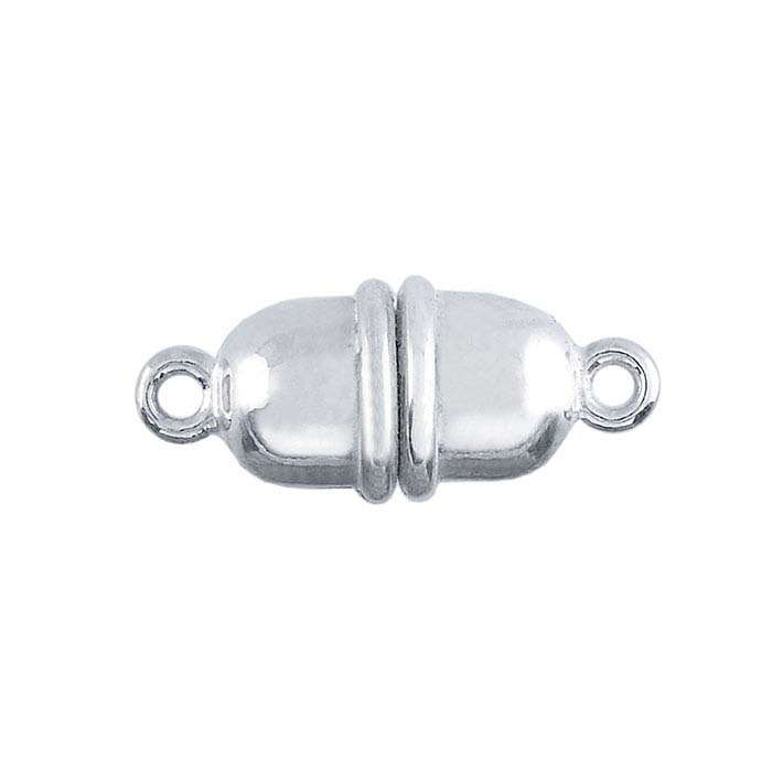 Silver Magnetic Barrel Clasp