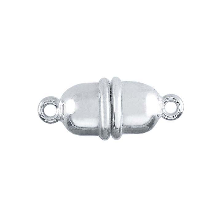 Argentium® Silver Magnetic Barrel Clasp