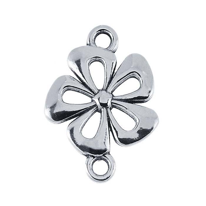 Sterling Silver Flower Link Component