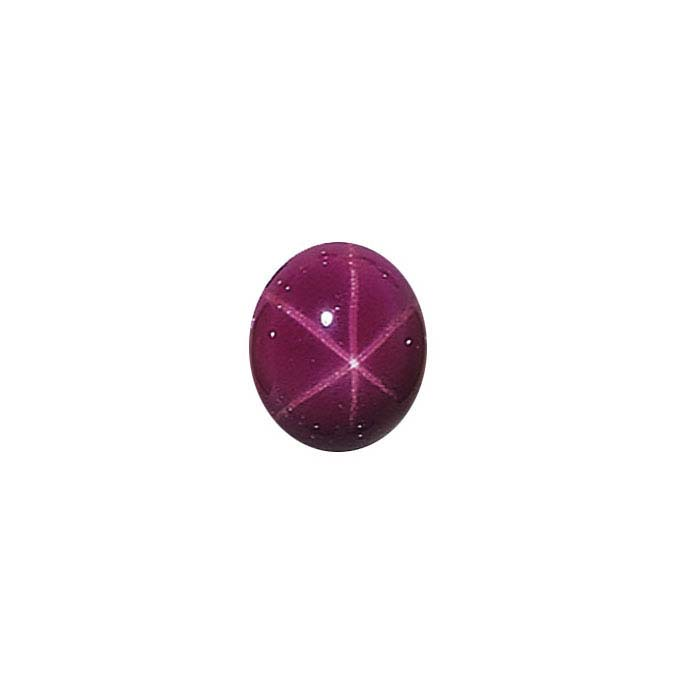 Lab-Created Star Ruby Oval Cabochon