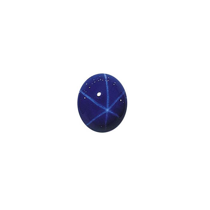 Lab-Created Blue Star Sapphire Oval Cabochons