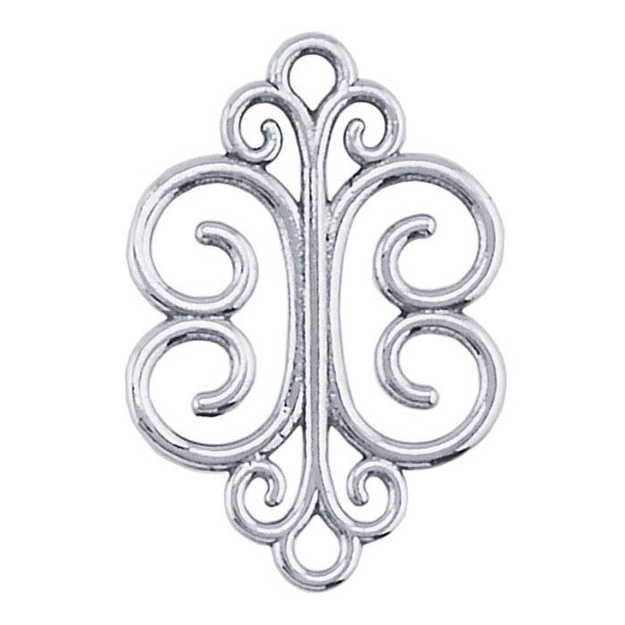 Sterling Silver Filigree Link Component