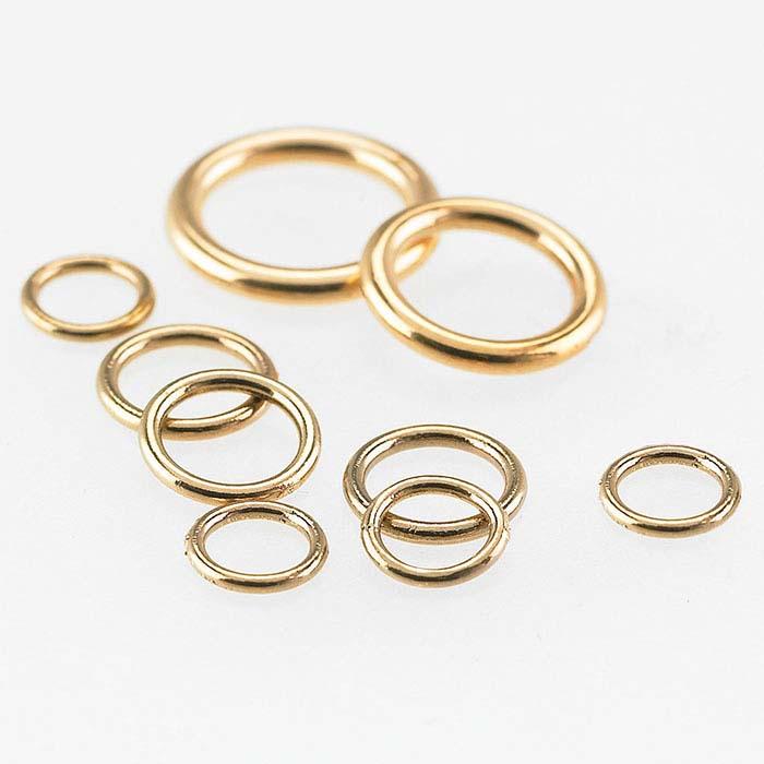 Bronze Round Closed Rings