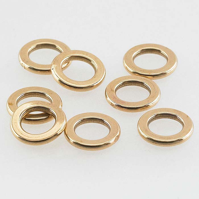 Bronze 4.8mm Flat Round Closed Ring