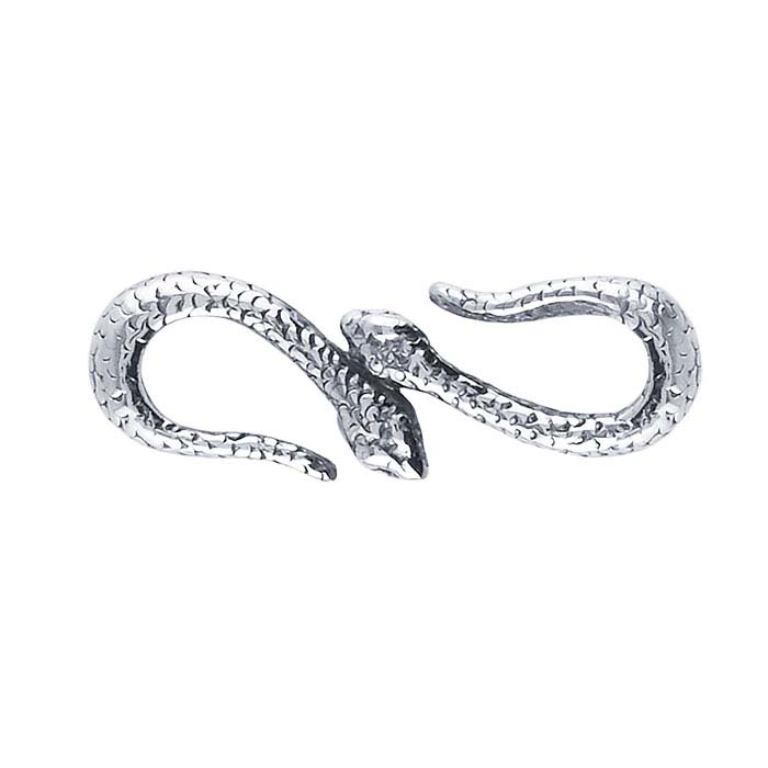 Sterling Silver Double-Snake S-Hook Clasp