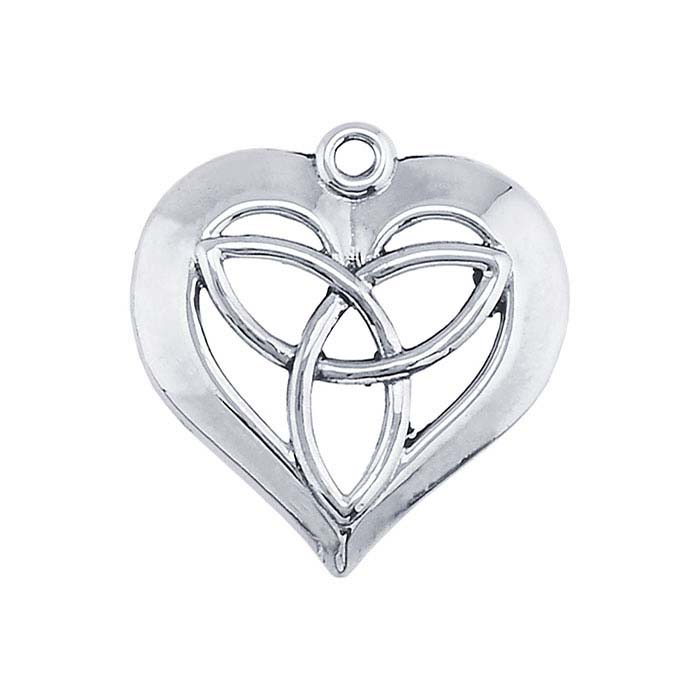 Sterling Silver Celtic Love Heart Component