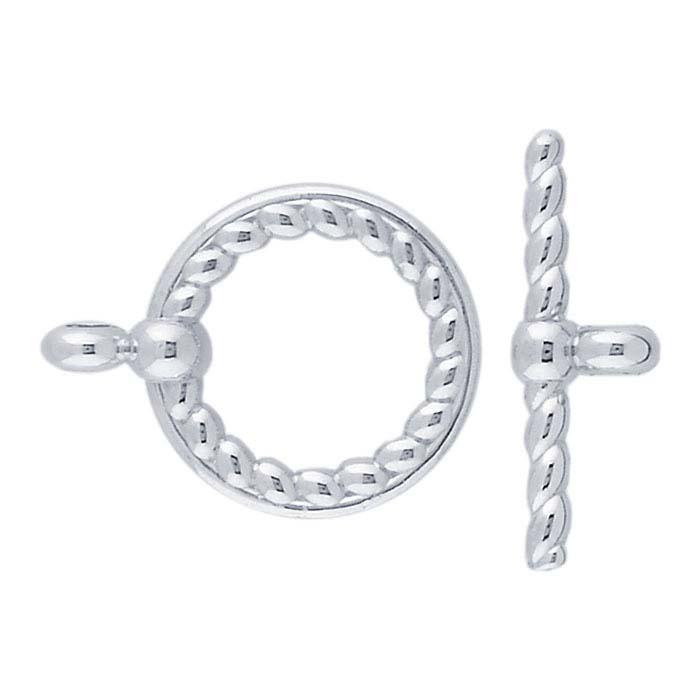 Argentium® Silver Rope Toggle Clasp