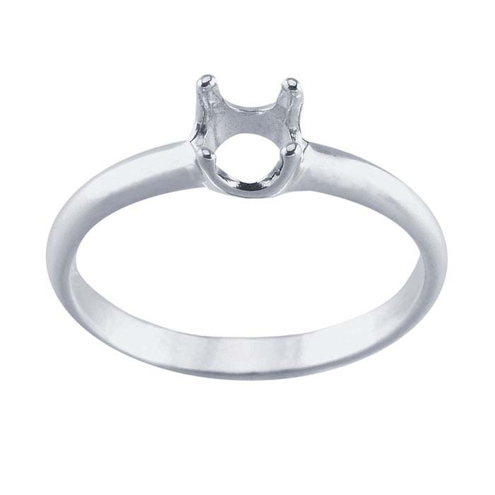 argentium 174 silver readyset 5mm ring mounting