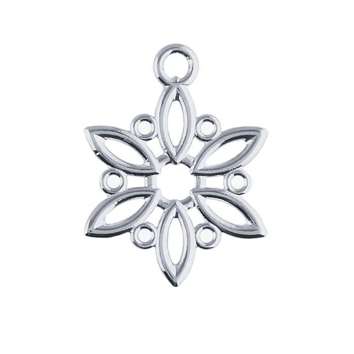 Sterling Silver Snowflake Component