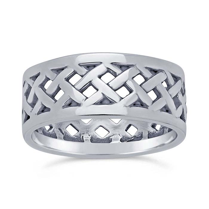 Sterling Silver Oxidized Woven Bands