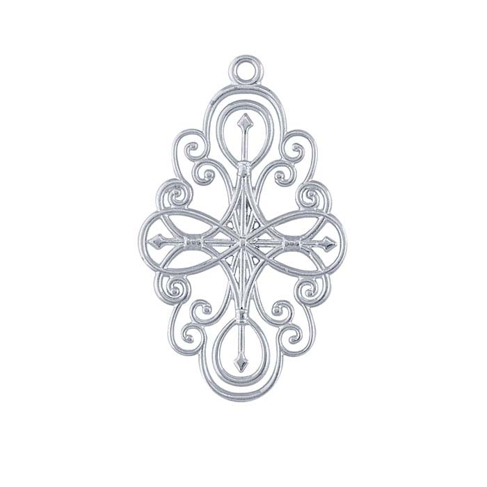 Sterling Silver Filigree Swirls Component