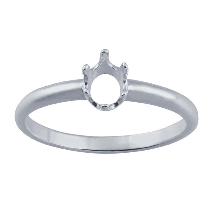 Sterling Silver ReadySet™ Oval Ring Mountings