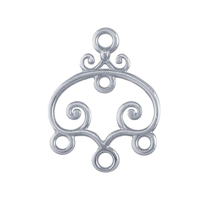 Sterling Silver Scrolled Component