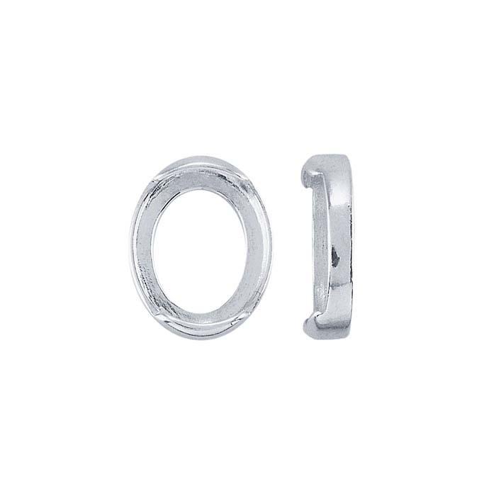 Sterling Silver Oval Half-Tube Bezel Settings