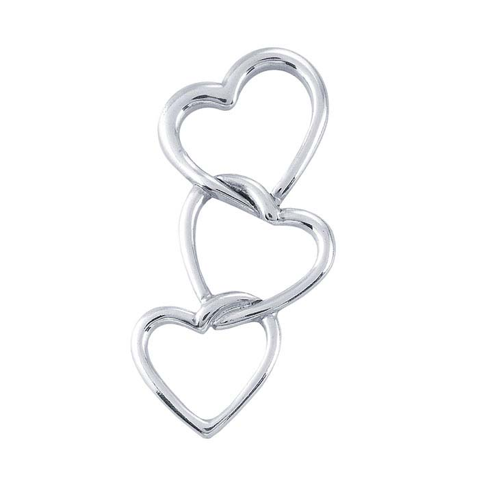 Sterling Silver Triple-Heart Pendant