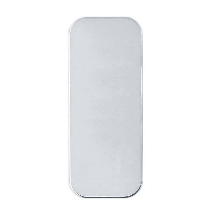 Sterling Silver 10 x 4mm Rounded Rectangle Stamping, 24-Ga.