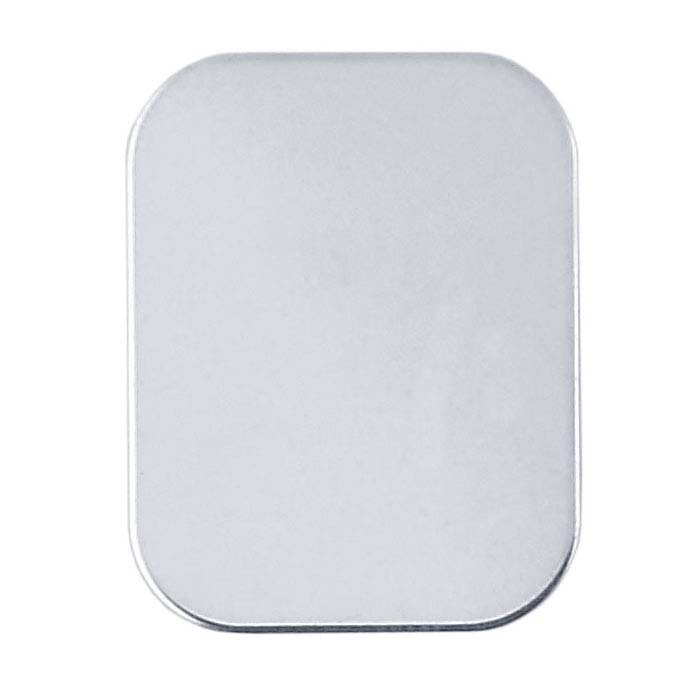 .999 Fine Silver 16 x 12mm Rounded Rectangle Stamping, 24-Ga., Hard