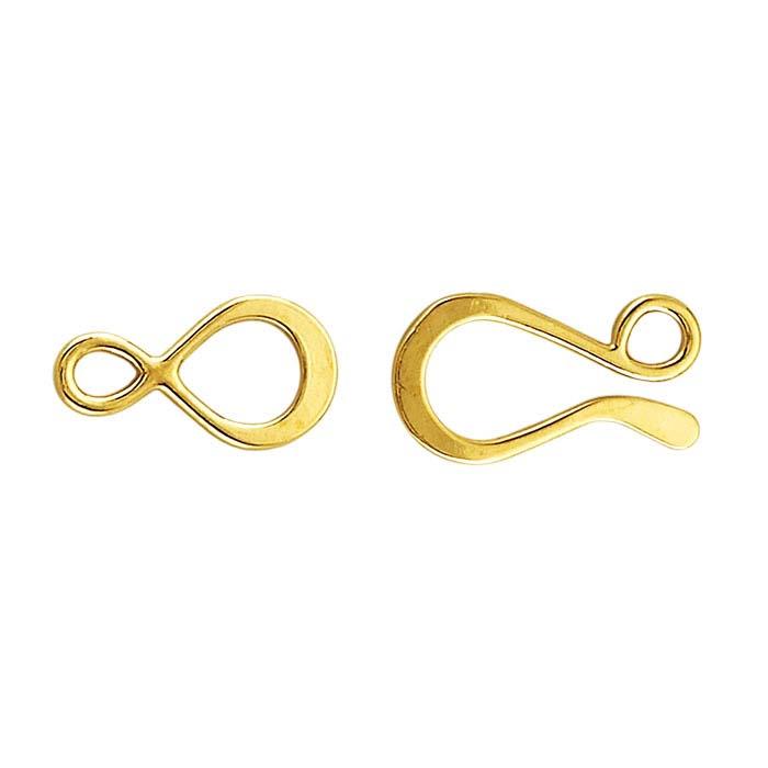 14K Vermeil Hook and Eye Clasps