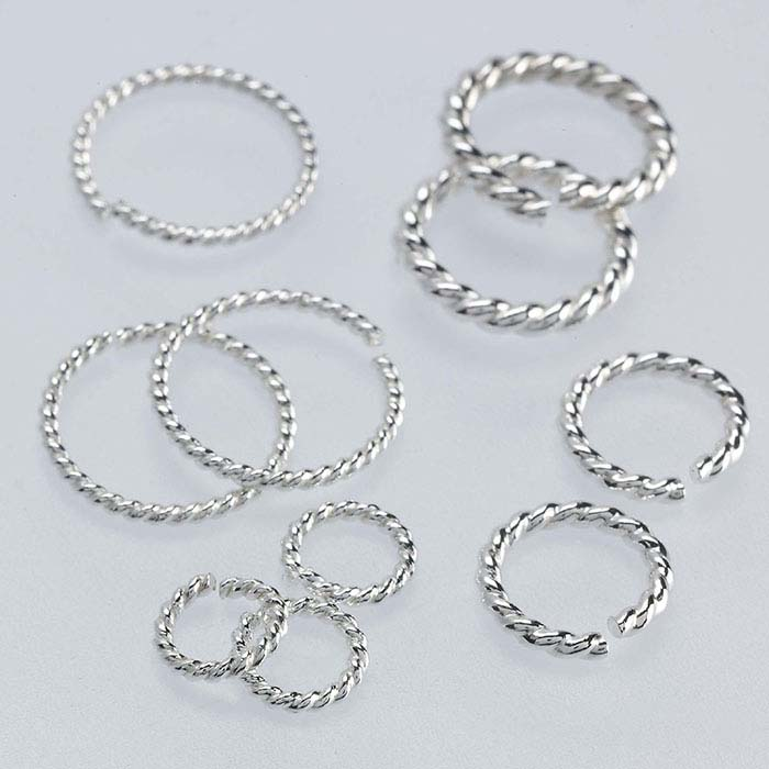 Sterling Silver Round Twist-Wire Jump Rings