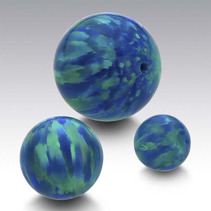 Kyocera Peacock Opal Beads