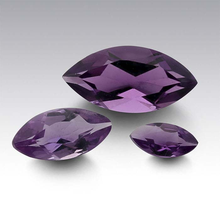 Amethyst Marquise Faceted Stones