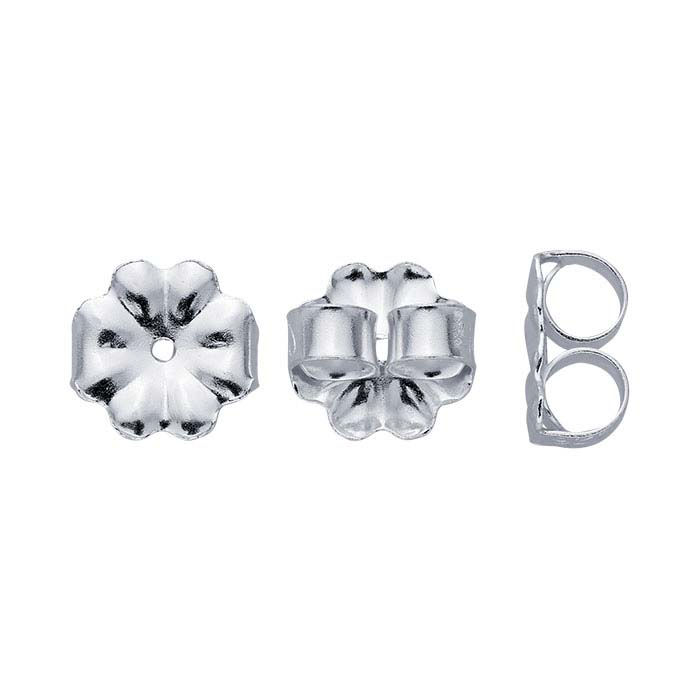 Sterling Silver Medium-Weight Friction Ear Nuts
