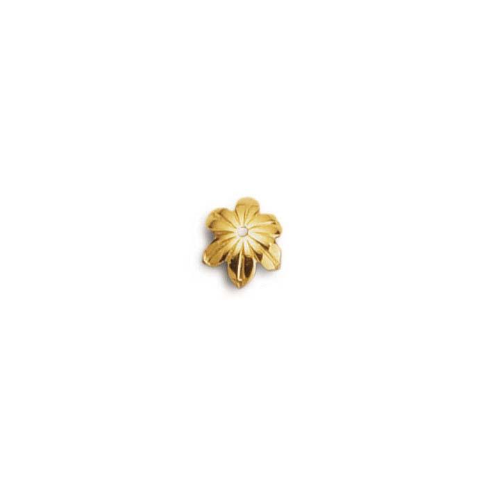14K Vermeil Flower Bead Cap
