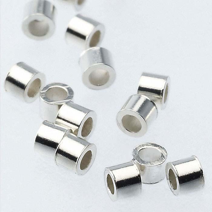 Argentium® Silver Tube Crimp Beads