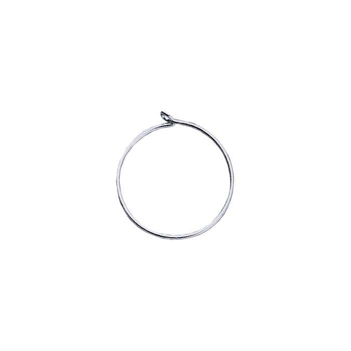 Argentium® Silver Beading Ear Hoops