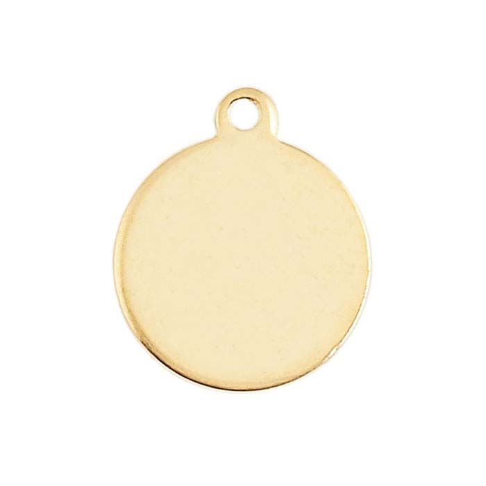 14/20 Yellow Gold-Filled Round Disc Charms
