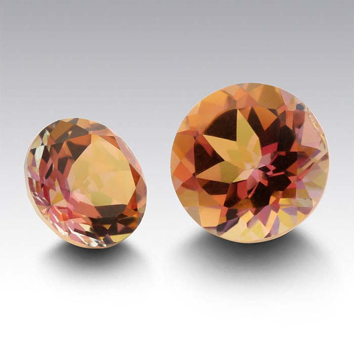 Anastasia™ Topaz 6mm Round Faceted Stone