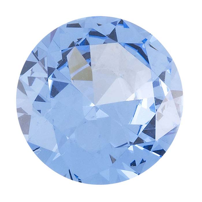 Simulated Aquamarine 10mm Round Faceted Stone