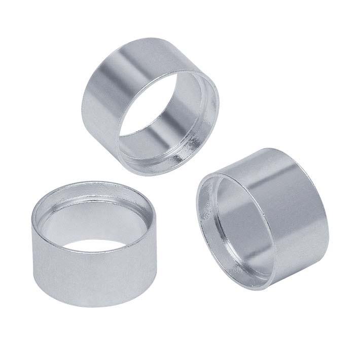 Sterling Silver 8mm Round Tube Bezel Setting