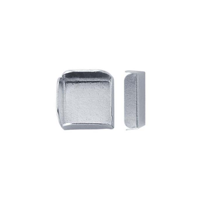 Sterling Silver Square Split Wall Bezel Cup Settings