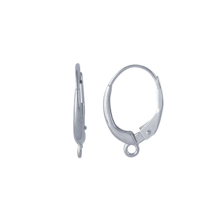 Sterling Silver Lever-Back Ear Wire with Open Ring