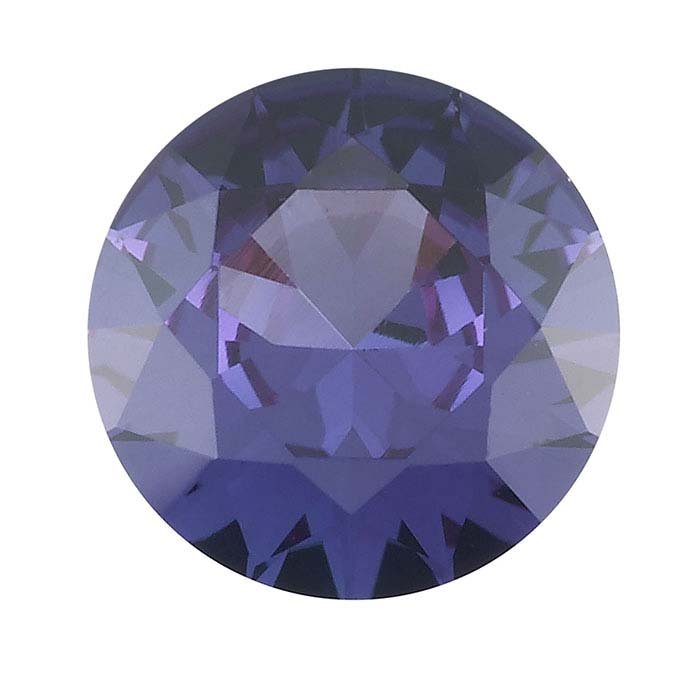 Simulated Alexandrite Round Faceted Stones