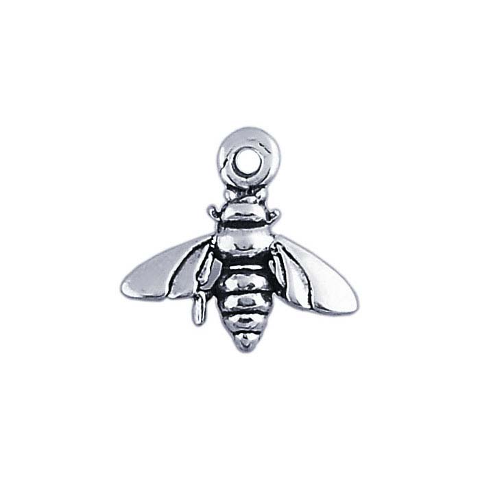 Sterling Silver 3D Honey Bee Charm