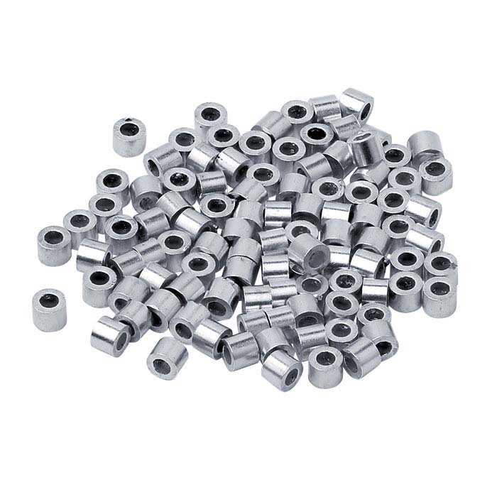 Sterling Silver 1mm Tube Crimp Bead