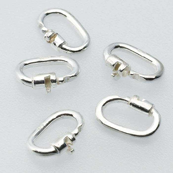 Sterling Silver 4.6 x 1.8mm Link Lock Jump Ring