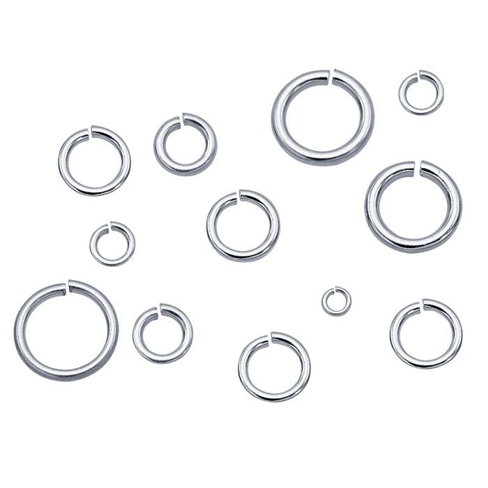 Sterling Silver Round Solder-Filled Jump Rings