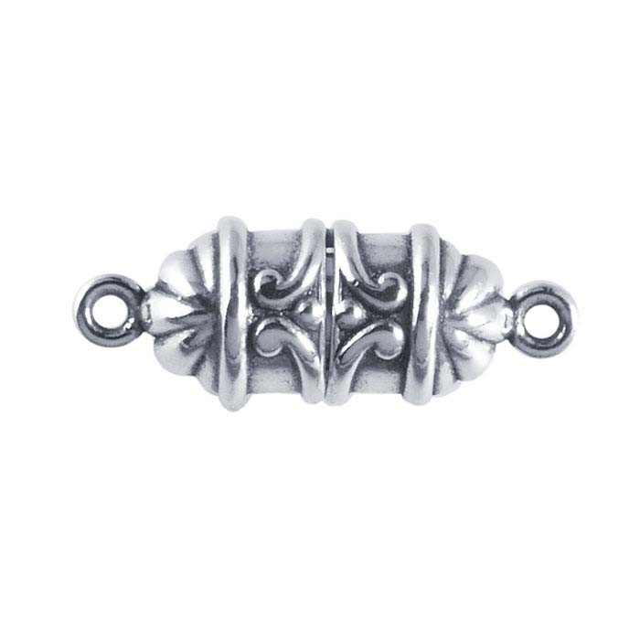 Sterling Silver Scroll Magnetic Clasp