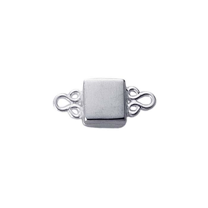 Sterling Silver Square Magnetic Clasp